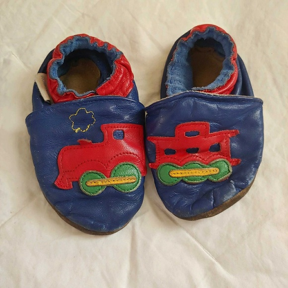 Soft Leather Baby Shoes Train 12-18 Months